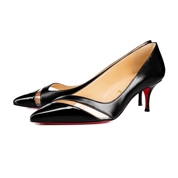 newest 35594 c8b3f New Christian Louboutin 17th Floor Leather Pumps NWT
